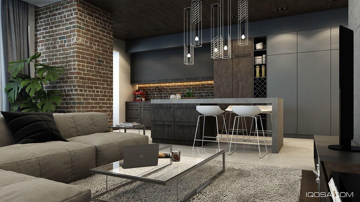 Design A Chic Modern Space Around A Brick Accent Wall Decoracao