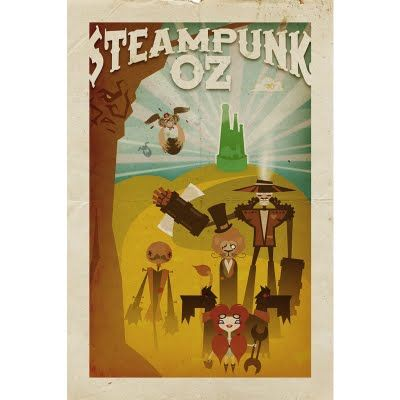 A steampunk Wizard of Oz done 'movie-poster-style' by Dawna and Daniel Davis