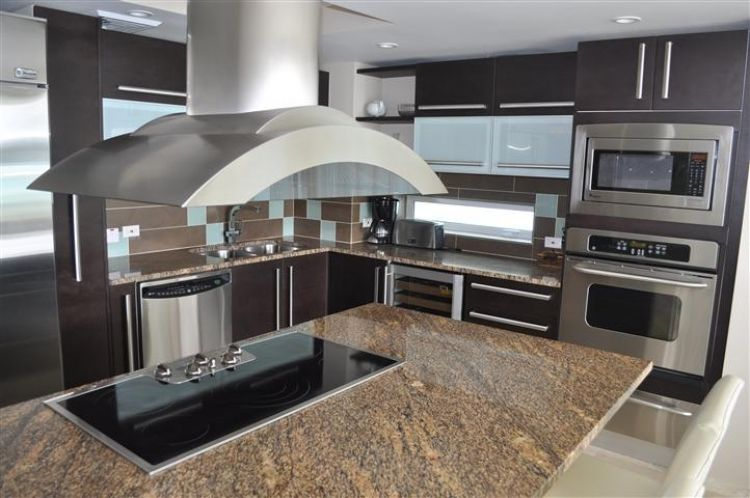 Ocean one unit 103 penthouse kitchen located in