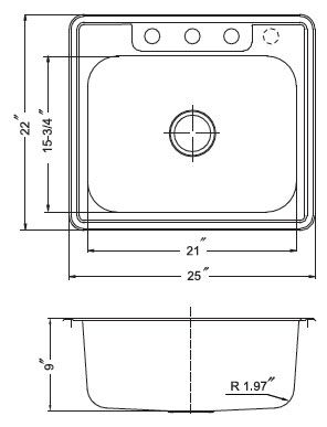 Small Space Small Kitchen Sink Dimensions
