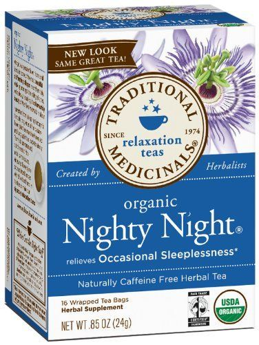 Traditional Medicinals Herbal Tea Organic Nighty Night Every Night Nighty Night Tea Valerian Tea Relaxing Tea