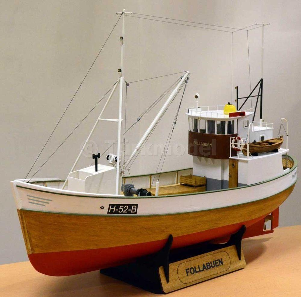 FOLLABUEN 1/25 Scale Norwegian Fishing Boat Wood Model Kit