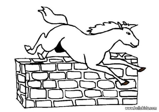 Jumping Horse Coloring Page Cute And Amazing Farm Animals Coloring