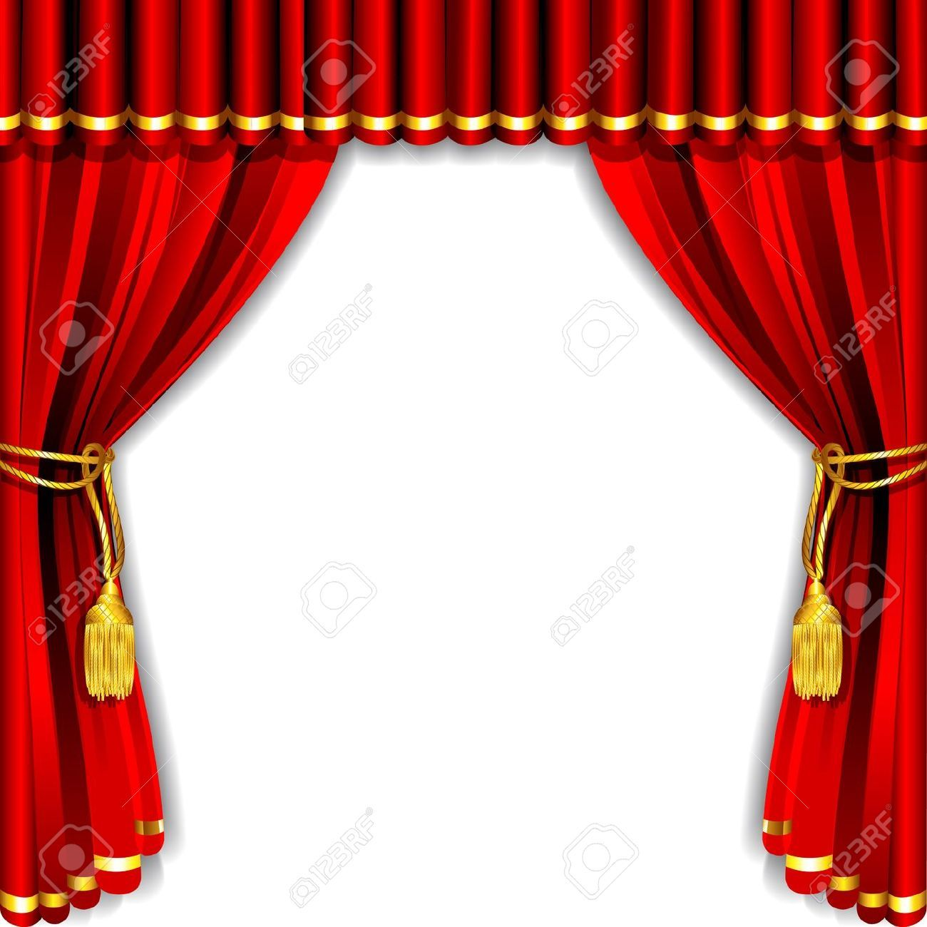 Stock vector stage curtains curtains vector red curtains