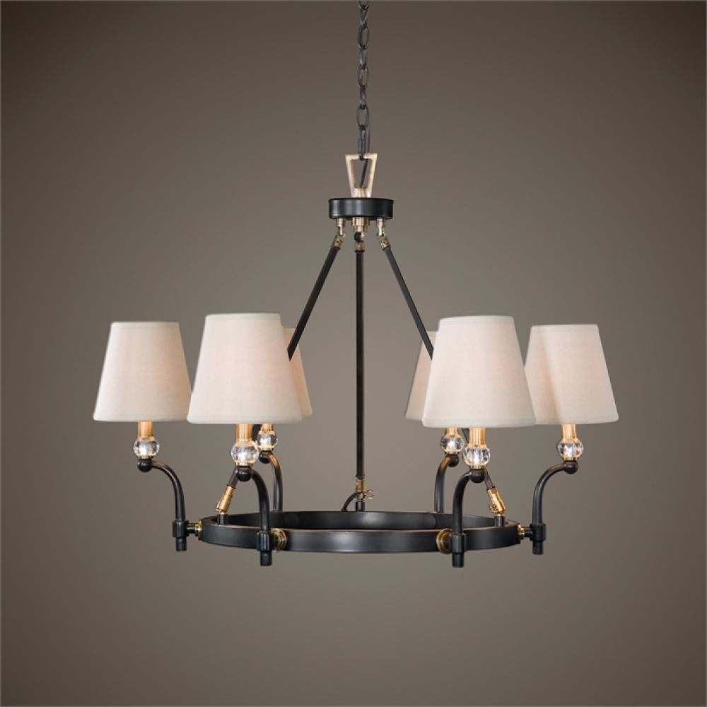 uttermost circolo oil rubbed bronze 6 light chandelier 9pxga