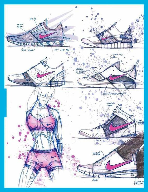 footwear sketch collection, shoe sketch collection, product