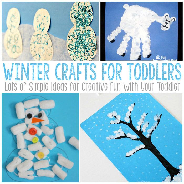 Easy Winter Craft Ideas For Kids Part - 16: Simple Winter Crafts For Toddlers - Easy Peasy And Fun