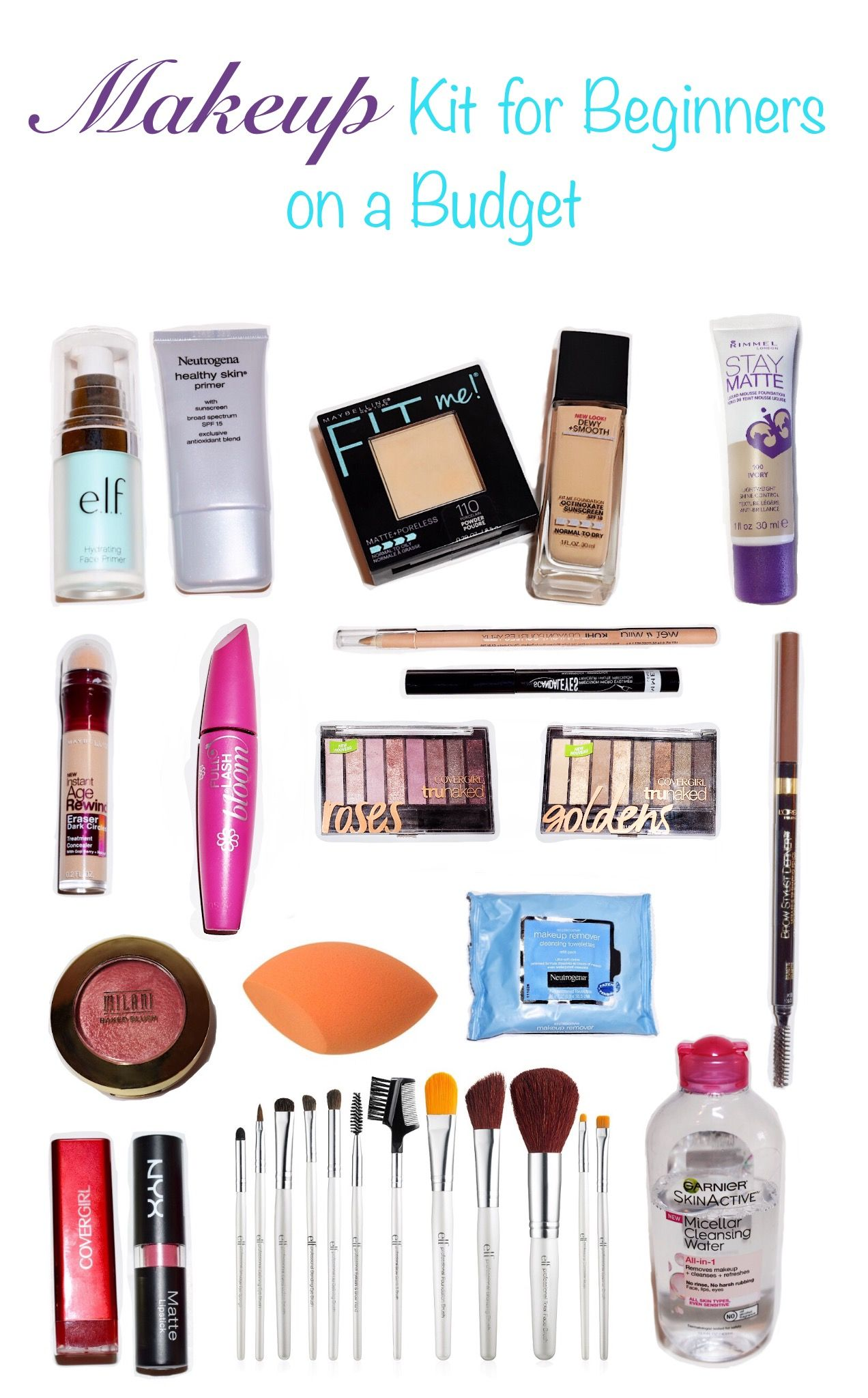 Makeup Kit for Beginners on a Budget Beauty Budget Girl