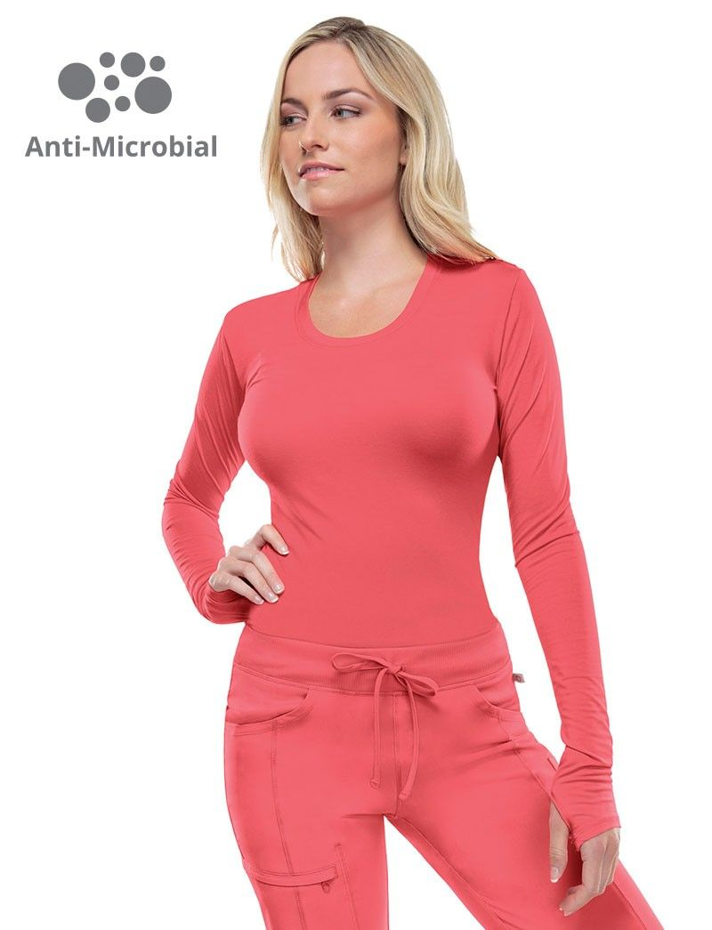 3af33a0b8a7 (on qualifying brands) Infinity Antimicrobial Long Sleeve Knit Underscrub  Tee #scrubs