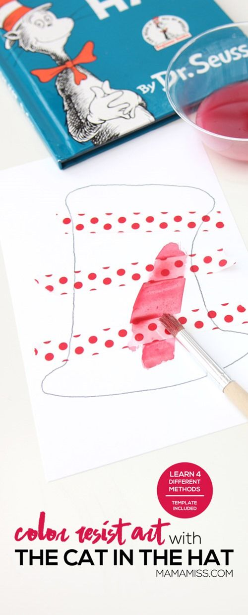 Color Resist Art (Inspired by The Cat In The Hat) | Pinterest ...