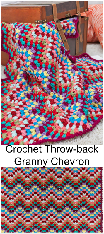 Granny Chevron | chevron stitch | Pinterest | Manta, Mantas para ...