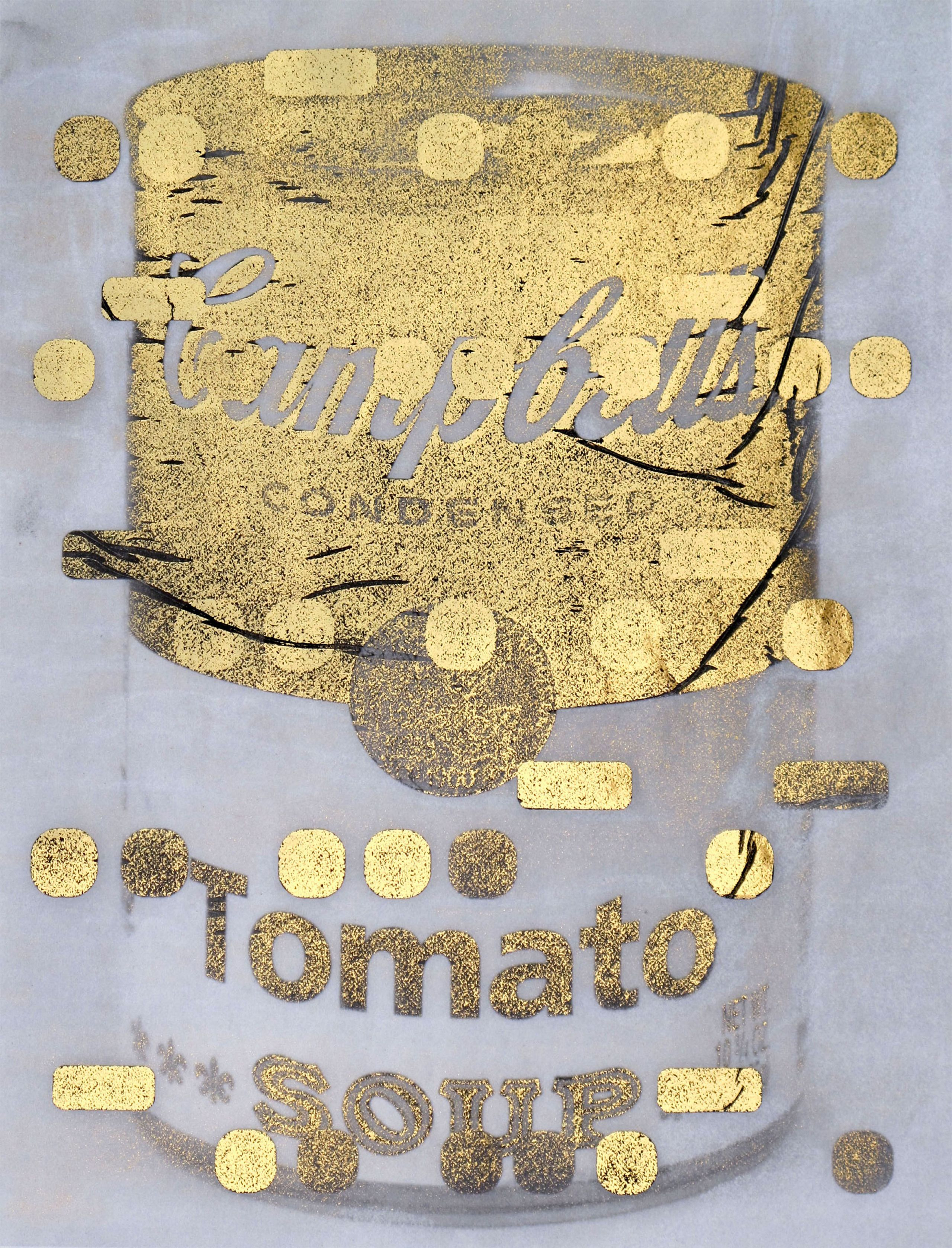 It\'s All Derivative: Cambells Soup in Gold, Negative / by Bill Claps ...