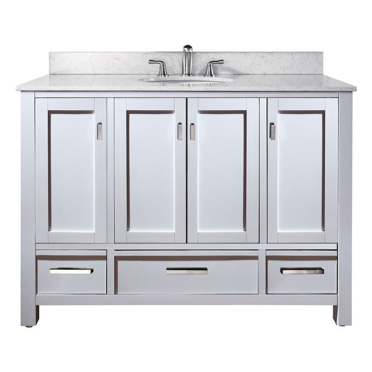 Avanity Modero White Single Bathroom Vanity It S Two Times The Storage E In One Fresh Furnishing With