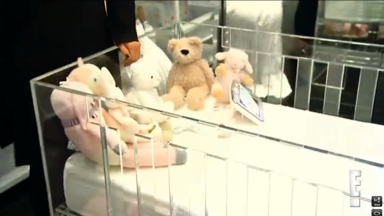 Baby crib vs cot - This Is The Cot Of Kim Kardashian S Baby Northwest See Through I