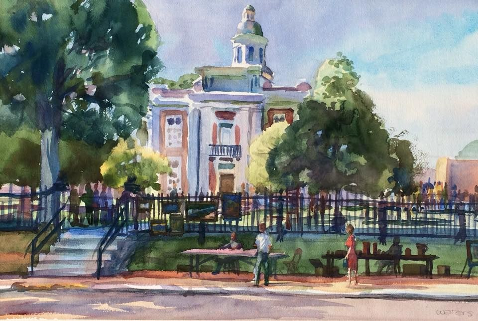 Painting Of The Historic Canton Square By Wyatt Waters With