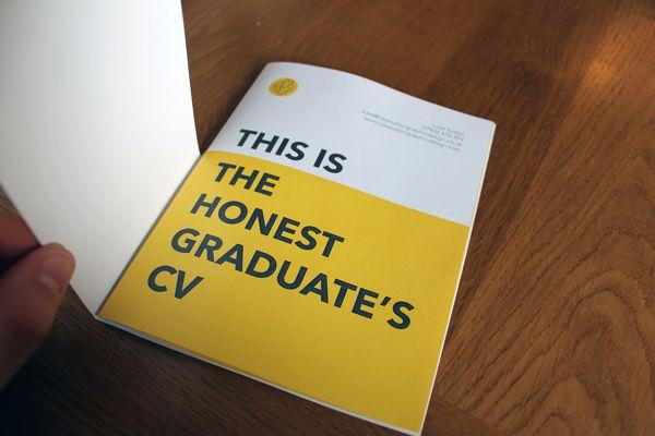 Designer's 'Honest Graduate's CV' Shows His Sense Of Humor And Skills - DesignTAXI.com