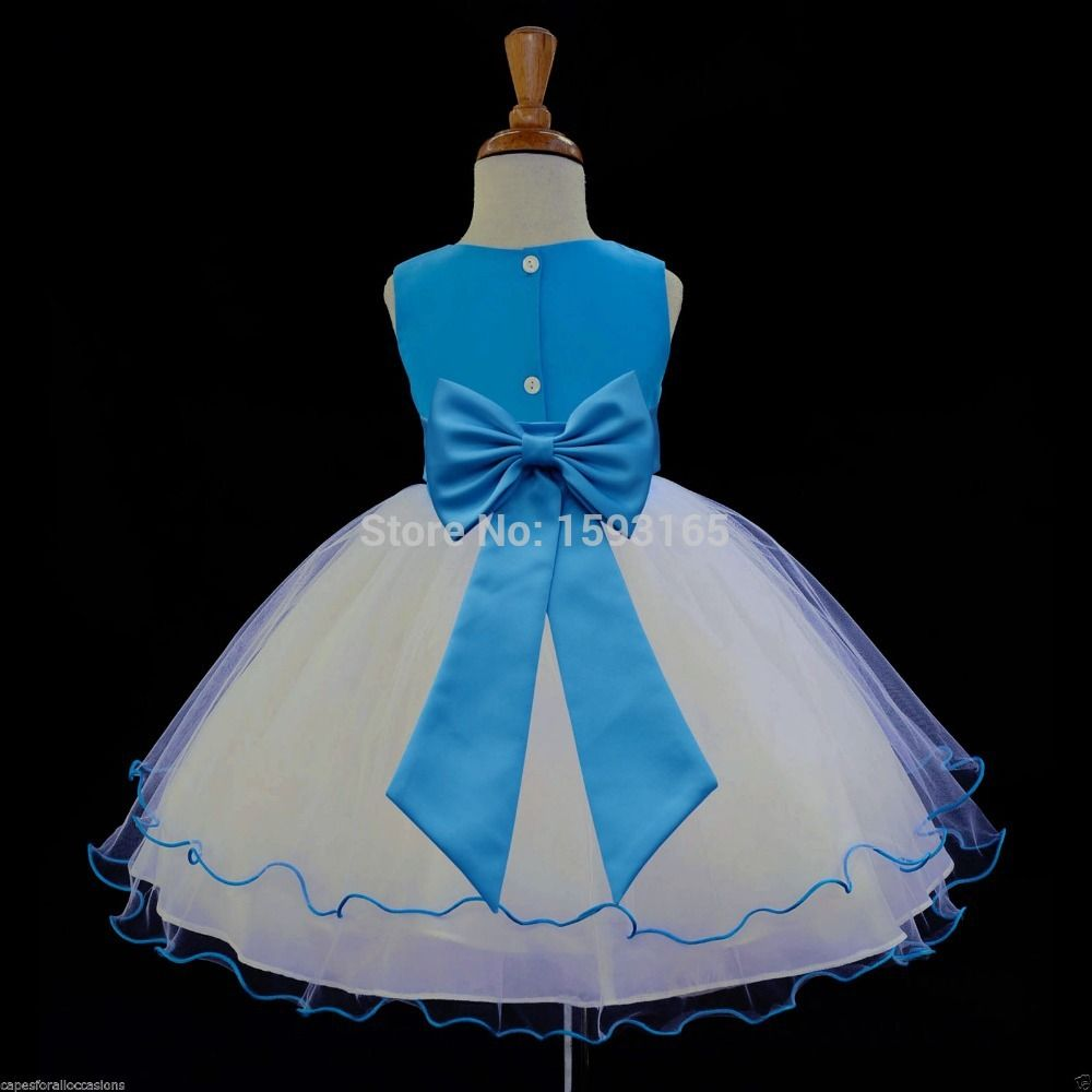 New all colors pageant wedding dancing  flower girl dress with bytterflies and bow size 2 4 6 8 10 12 14