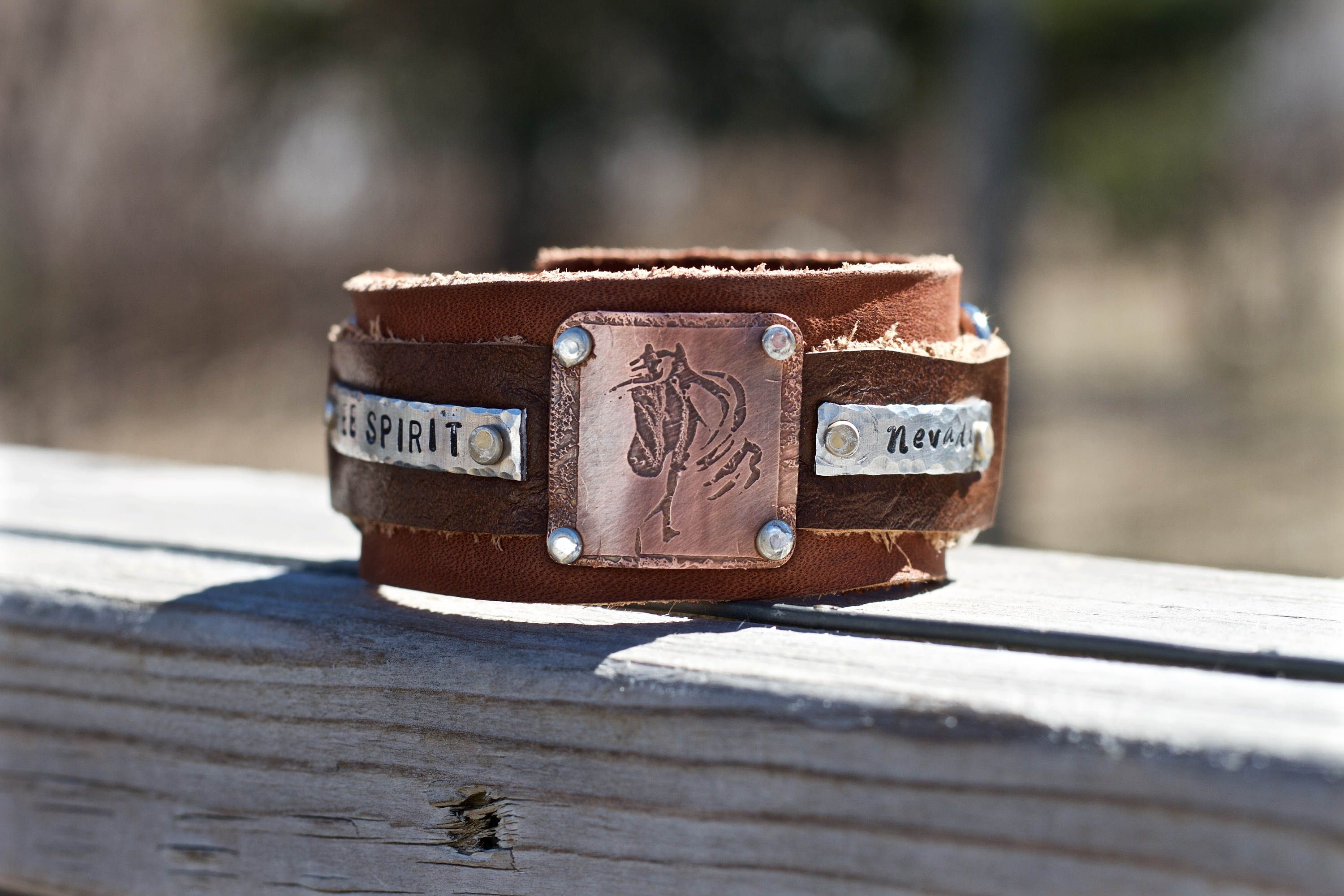 Personalized Leather Horse Bracelet Rodeo Birthday Gift Ideas Custom Western For Lover Riding By