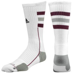 a3ef7dea9 adidas Team Speed Crew Sock - Men's - Basketball - Accessories -  White/Aluminum/Light Maroon