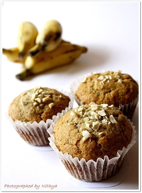Eggless Banana Muffins Thanksgiving Day Breakfast