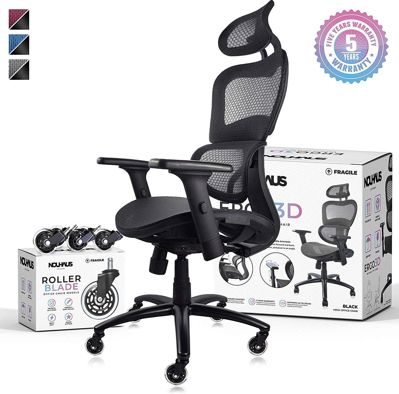 Nouhaus Ergo3d Ergonomic Office Chair Rolling Desk Chair With 4d