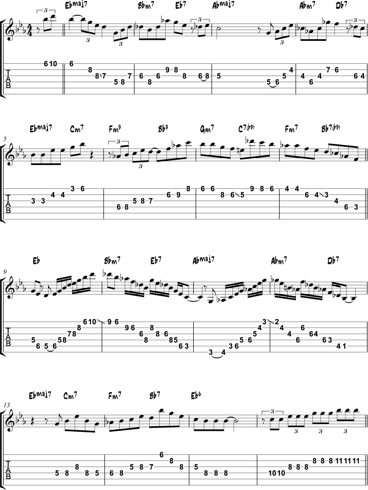 Guitar besame mucho guitar chords and lyrics : Misty arpeggio study page 1 | GUITAR | Pinterest | Guitars ...
