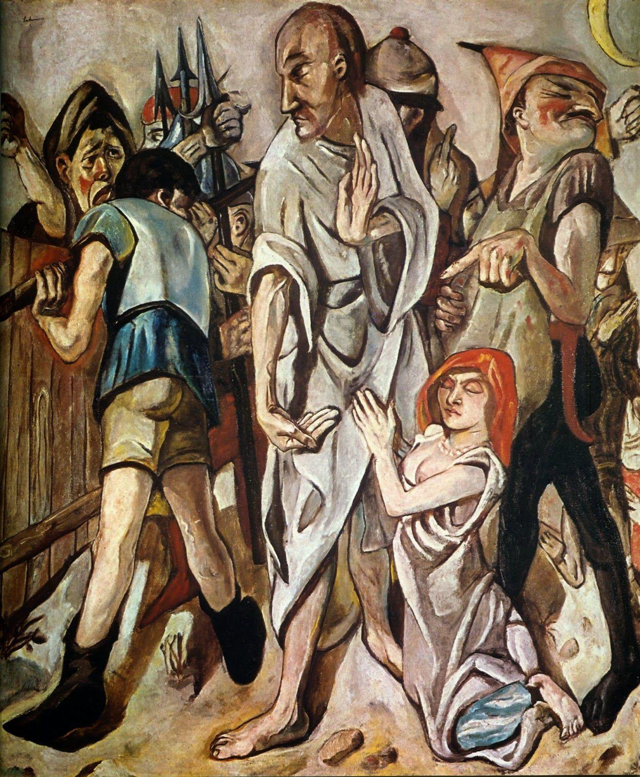 Max beckmann (1884-1950) La mujer adúltera (con imágenes) | Arte ...