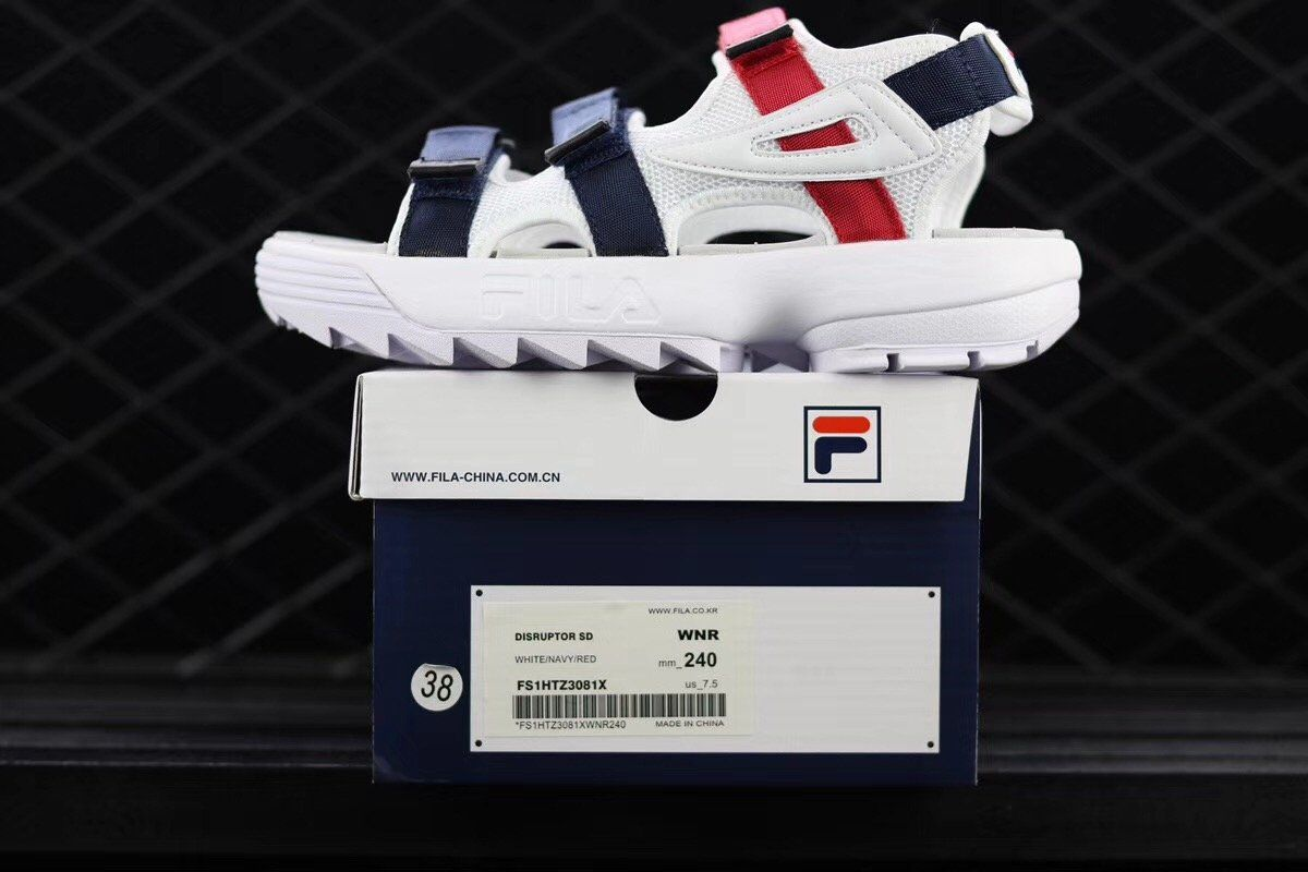 4f822ff3c3f Fila+Disruptor+II+Men s+Sports+Sandals+White Blue Red +Many+sizes