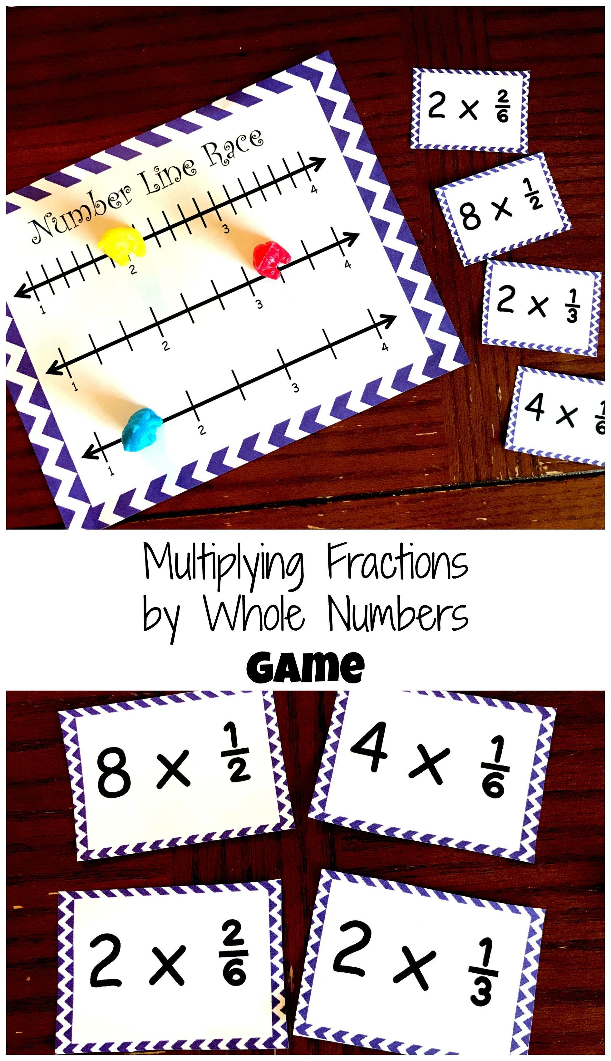 How to Practice Multiplying Fractions By A Whole Number...Free Game ...