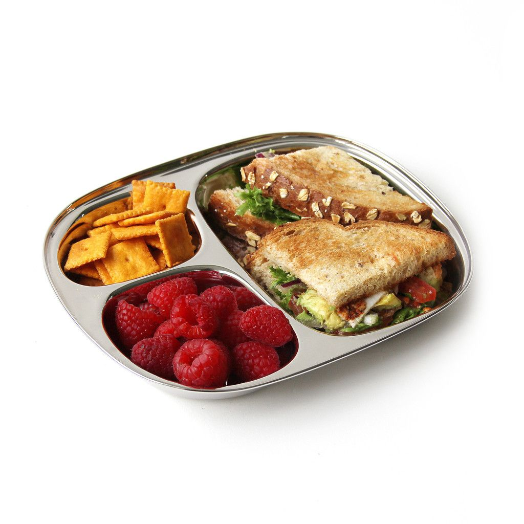 ECO Kid's Tray, Stainless Steel Divided Plate #essentialsforcamping