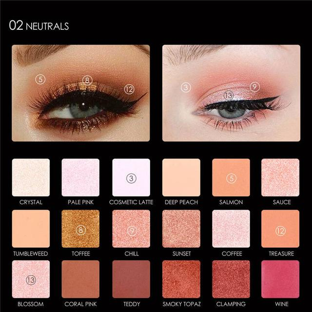 Brand 12 Color Liquid Quality Sequins Eye Shadow Palette Matte Shimmer Flash Smoky Makeup Powder Cosmetics Set Shadow Palette Vivid And Great In Style Beauty Essentials Beauty & Health