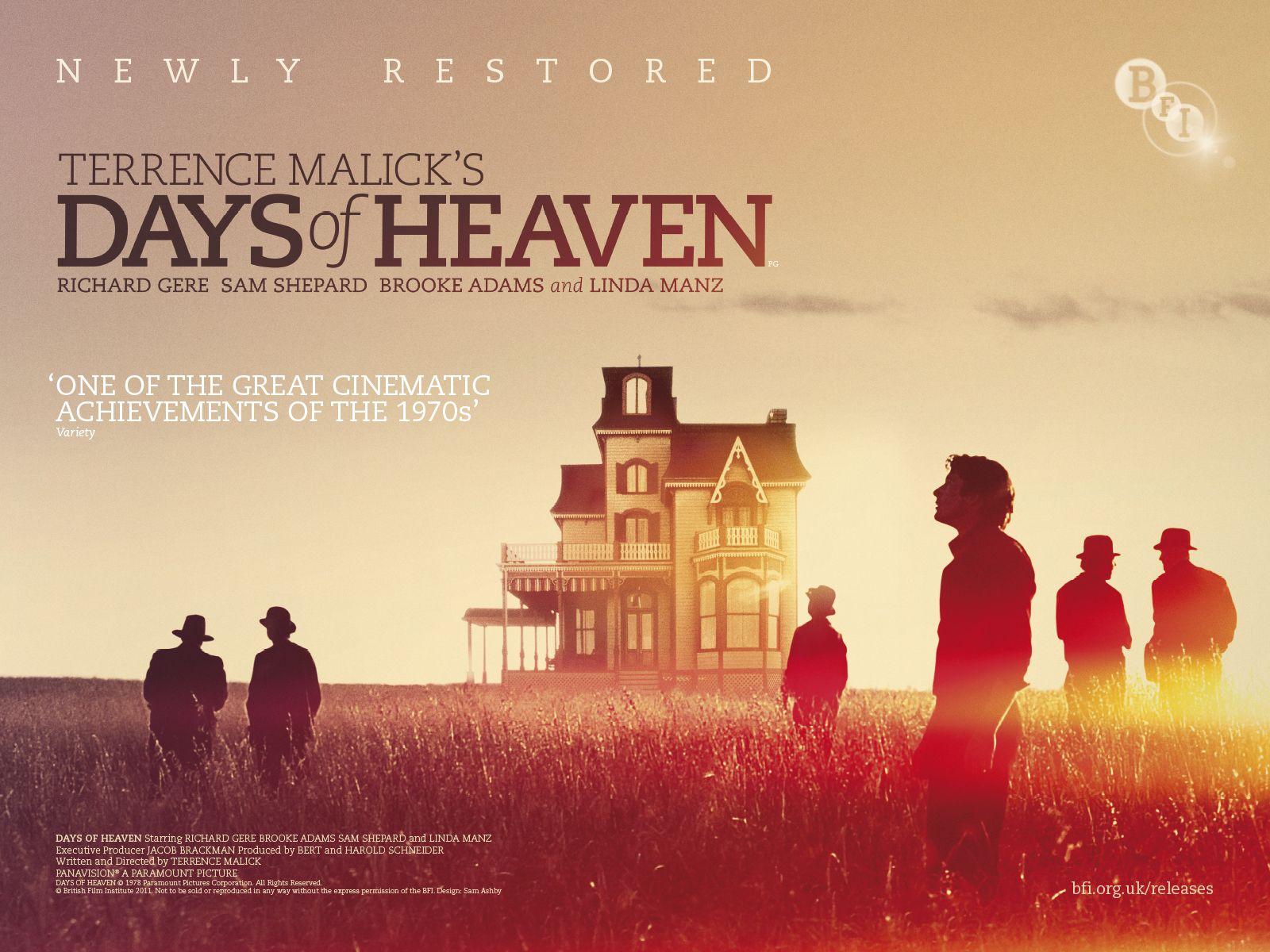 Days of Heaven (Terrence Malick, 1974) | Heaven movie, Beautiful film