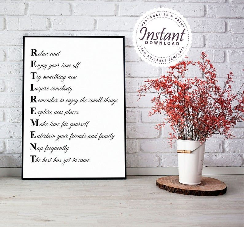 Retirement Letters Sign, Retirement Sign, Retirement Party
