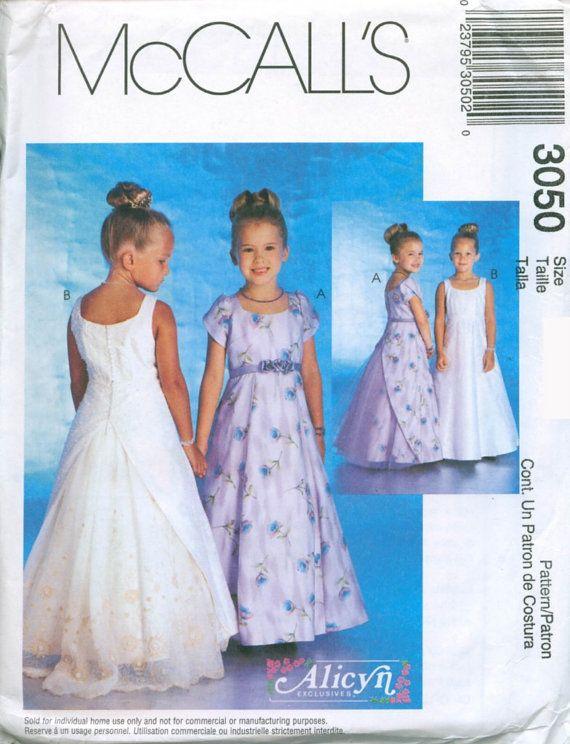 McCalls Pattern 3050 Girls Formal Dresses by Alicyn by sewbasicNY ...