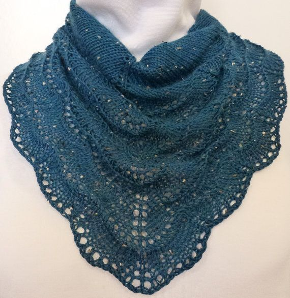 Marine Blue Holden Scarf in Merino Wool and by NeedlesnPurls