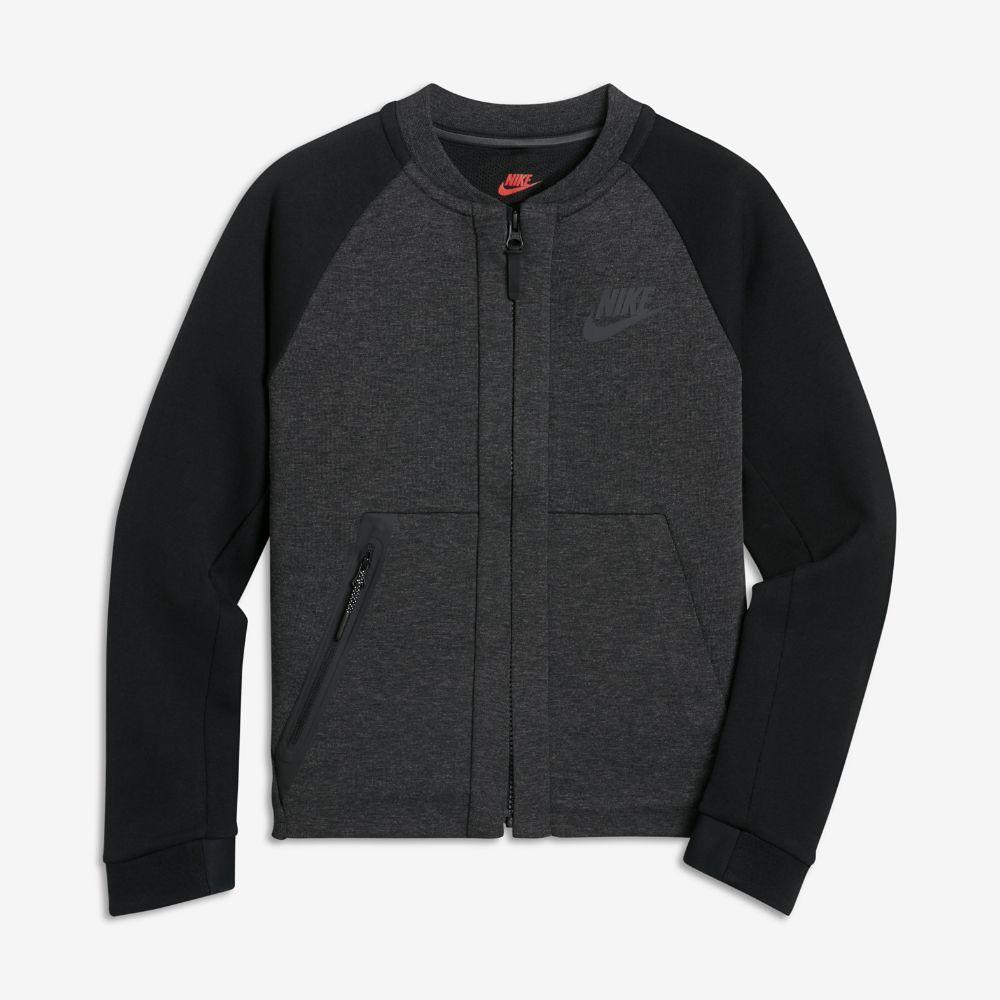 Nike sportswear tech fleece bomber big kidsu boysu jacket size