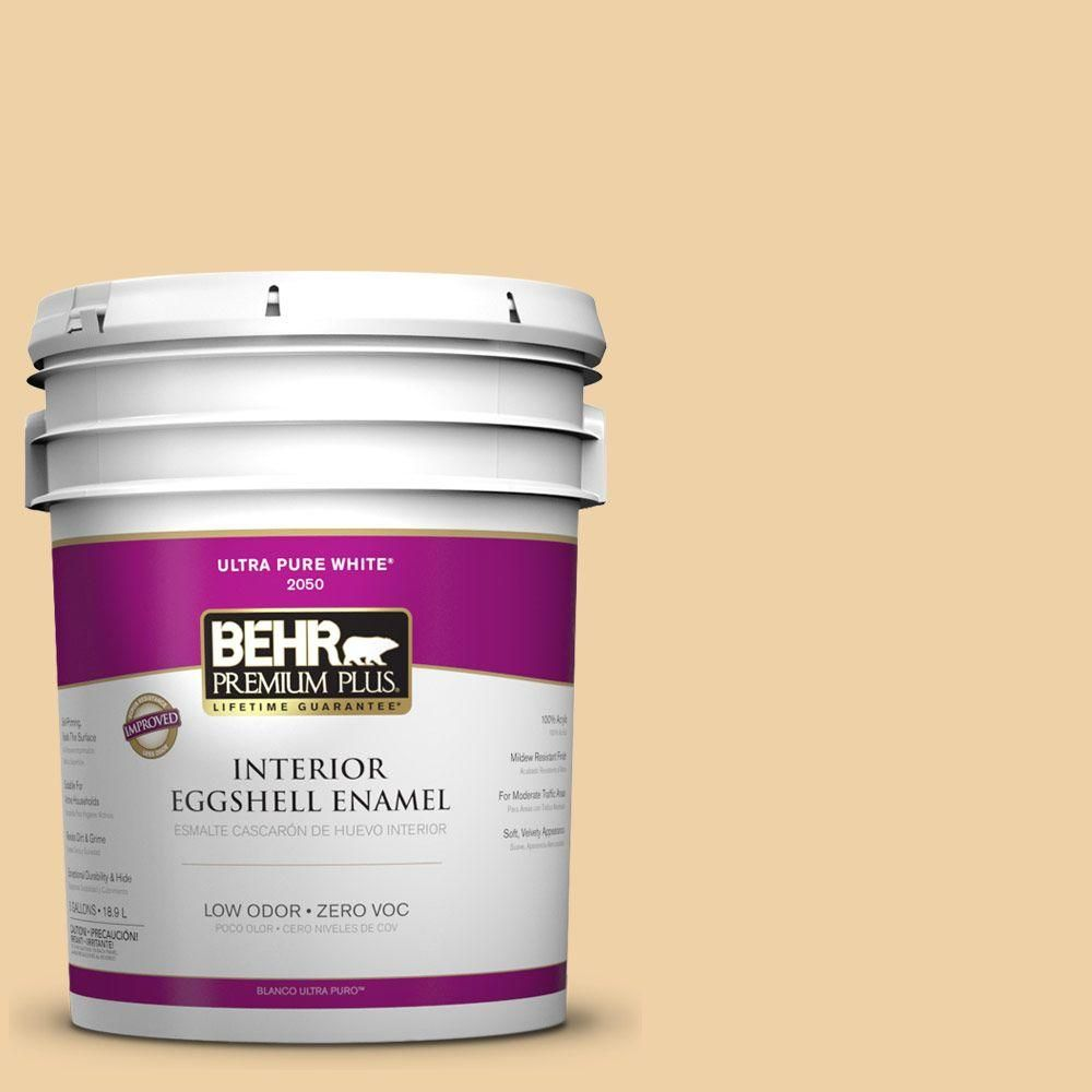 BEHR Premium Plus Home Decorators Collection 5-gal. #hdc-CT-01 Amber Moon Zero VOC Eggshell Enamel Interior Paint