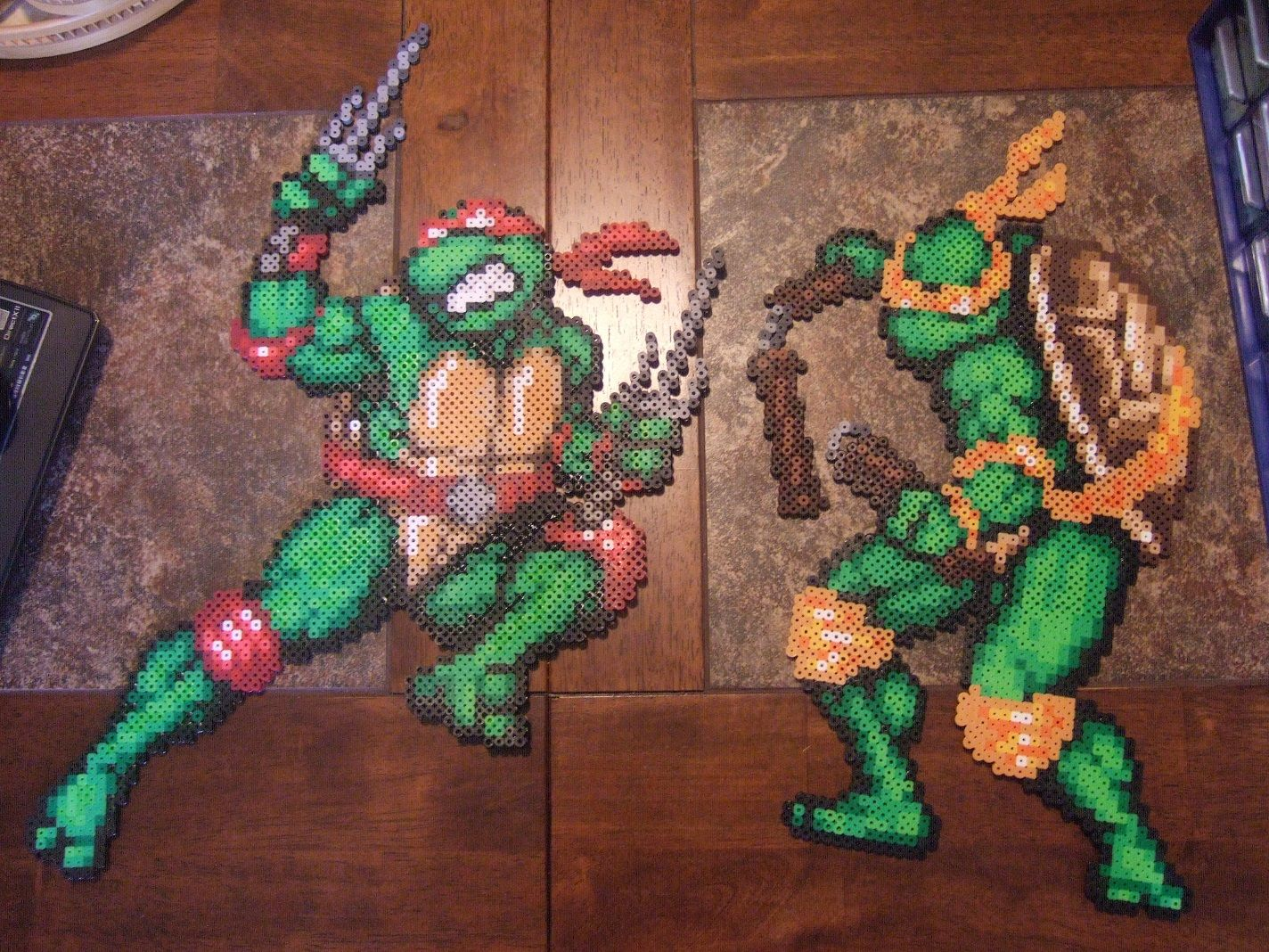 TMNT (Raphael and Michelangelo) perler bead sprites by FullMetal6 on ...
