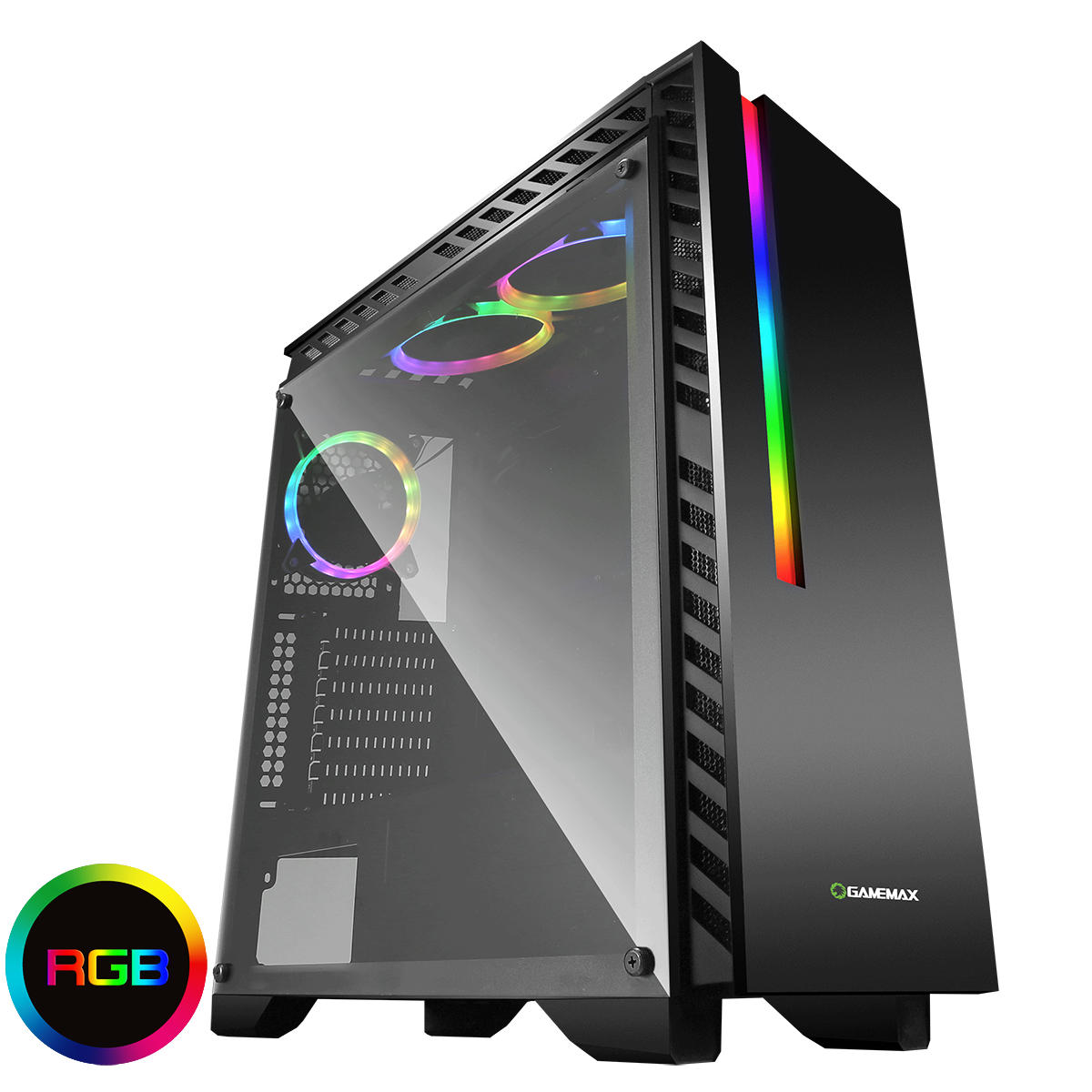 Game Max Chroma Rgb Pc Gaming Case Spot On Computer Pc Cases Pc Cases Gaming Pc Tempered Glass