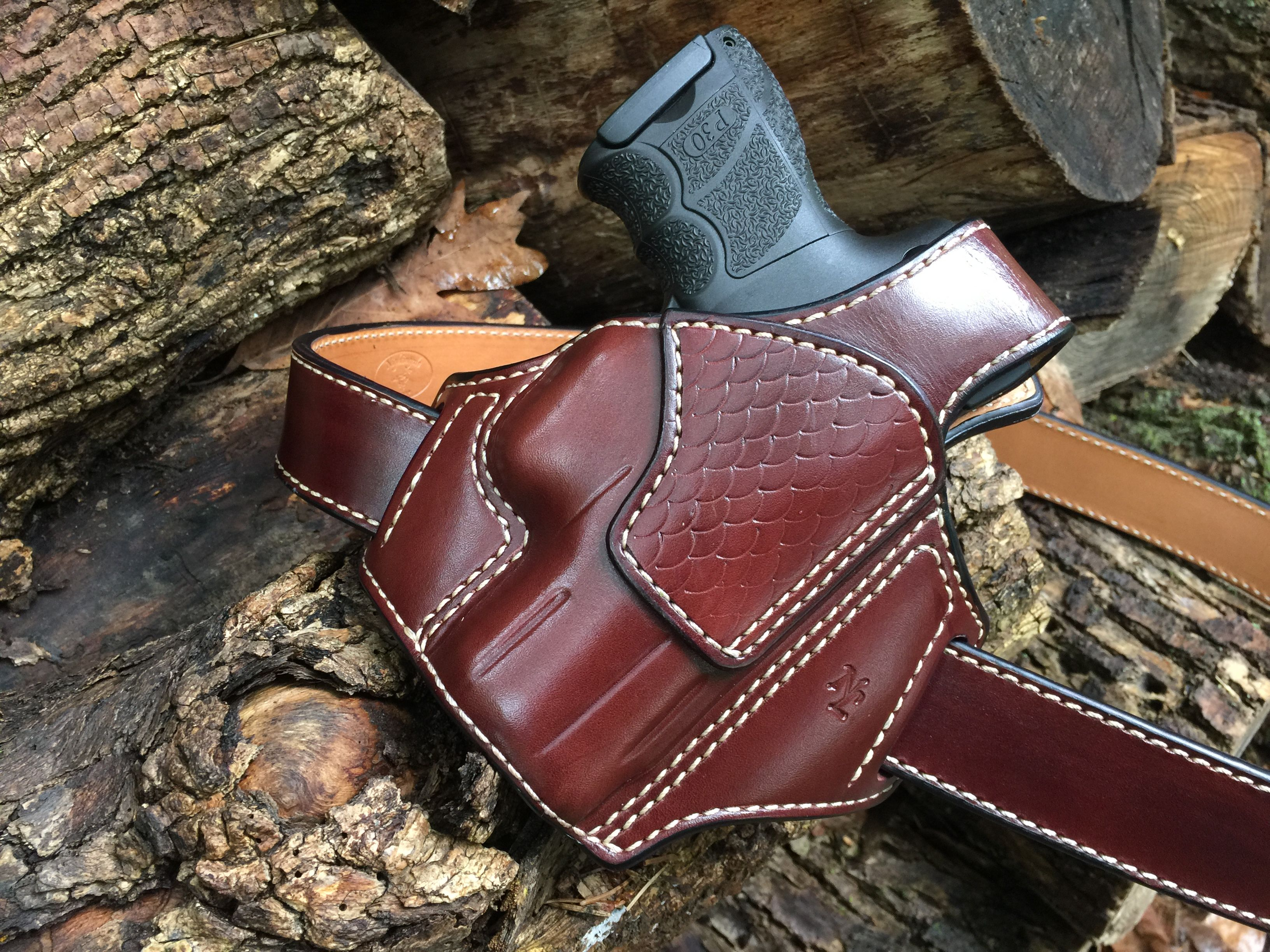 Osprey mens leather gloves - Nightingale Leather Hk P30sk Osprey Owb Holster W Thumb Break Mahogany Cowhide Natural
