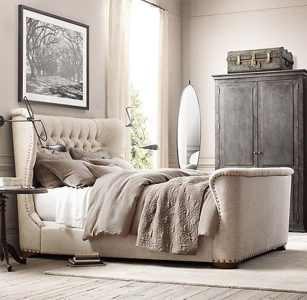 Churchill Upholstered Bed | Upholstered Beds | Restoration Hardware ...