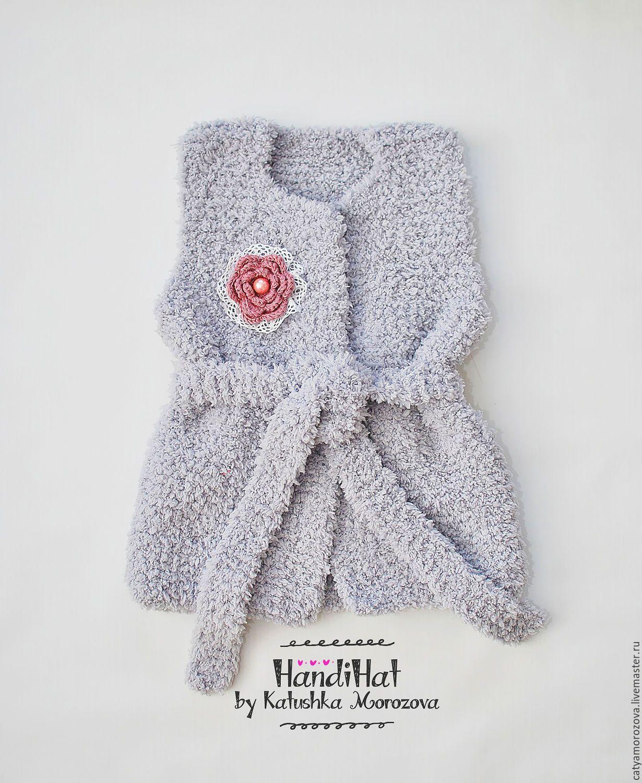 Сшить жилетку для девочки теплую