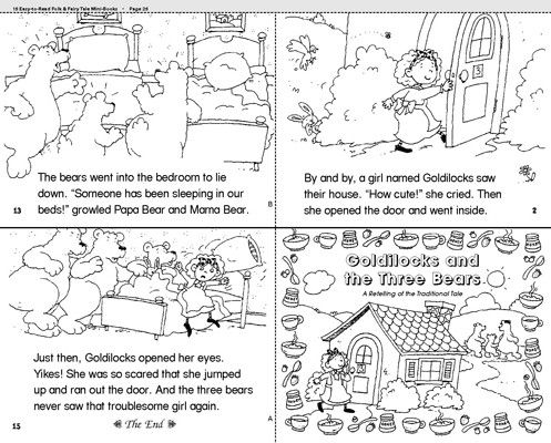 Resource image for goldilocks and the three bears story printable