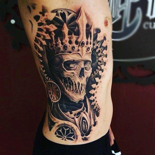 skull tattoos crown