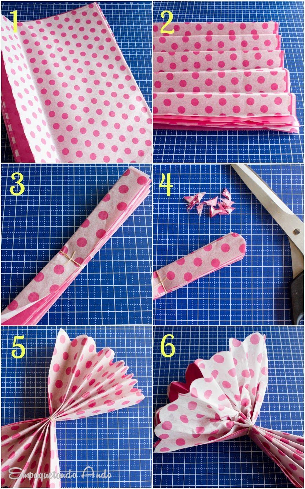 Aprender a hacer pompones de papel seda