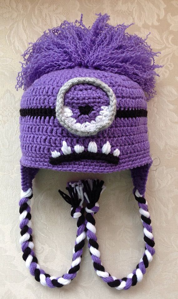Evil Minion Hat Crochet Pinterest Minion Hats Crochet Hats