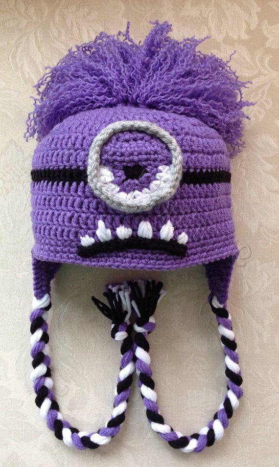 Minion Hat Halloween Costume Photo Prop Crocheted Minion Hat