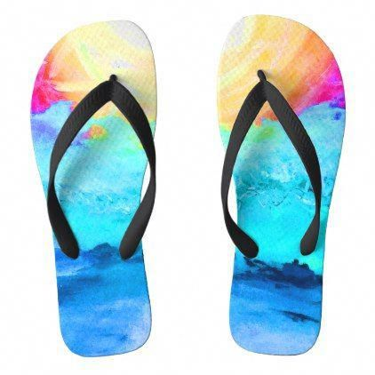 d8ddd4384  Beach Fun! Adult Wide Band Flip-Flops Flip Flops -  womens  shoes   womensshoes  custom  cool  WomensshoesThatLookLikeHooves