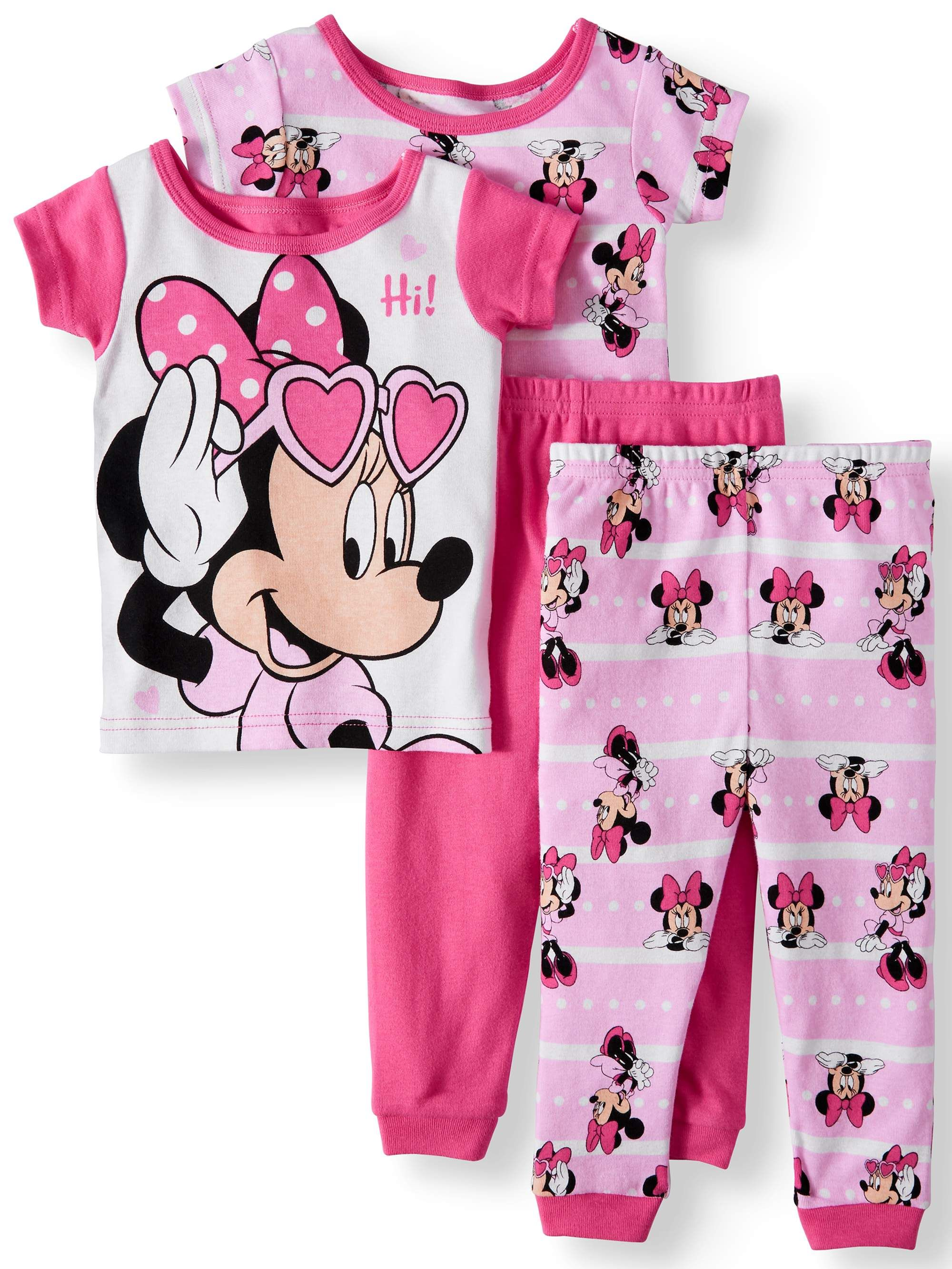 Baby Girls Minnie Mouse Sweet Stars Cotton Snug Fit Pajamas