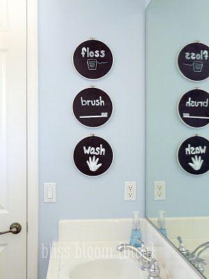 bathroom art for kids bathroom